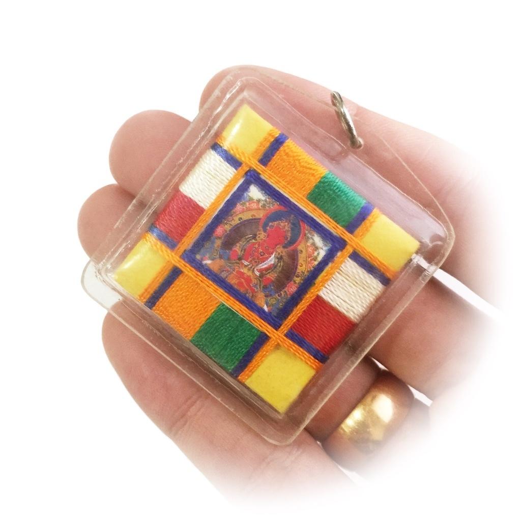 Tibetan Buddhist Pendant with Amitayus Image