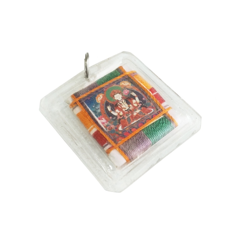 Tantric Buddhist Sungkhor Amulet of the Compassionate Chenrezig