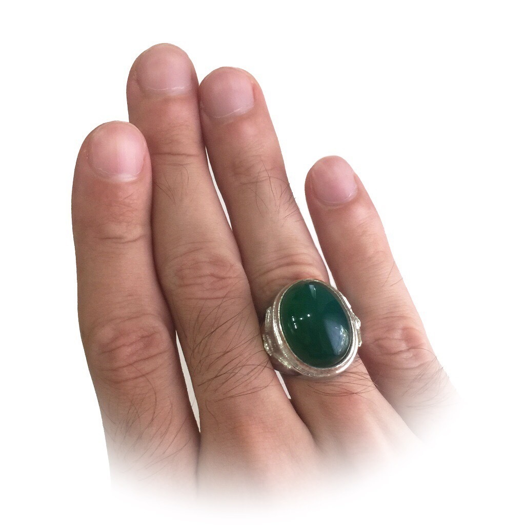 Indonesian Chrysoprase Ring
