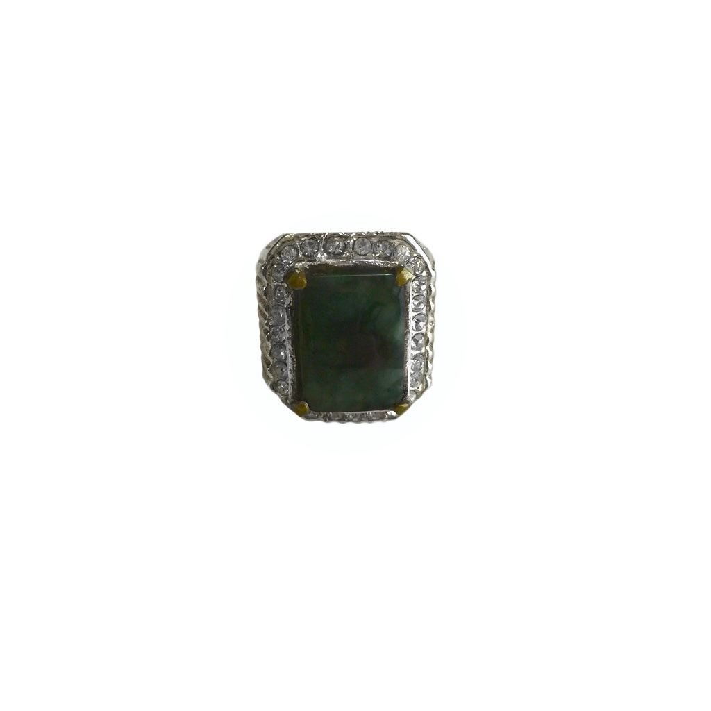 Indonesian Moss Agate Ring