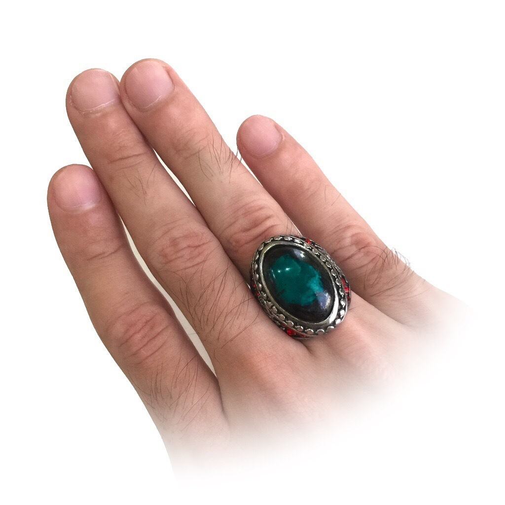 Mystical Chrysocolla Ring Talisman