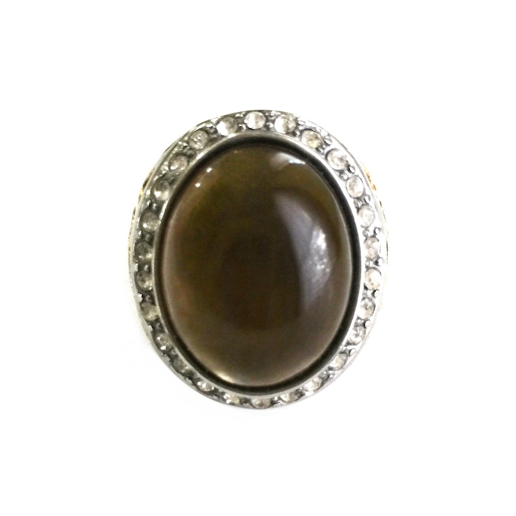 Shamanic Talisman Ring with Smoky Quartz Gemstone