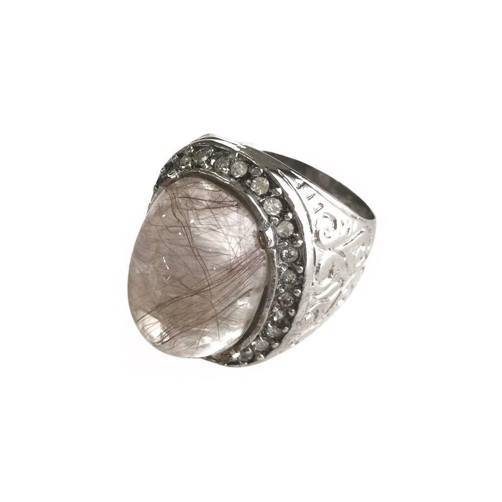 Rutile Quartz Crystal Amulet