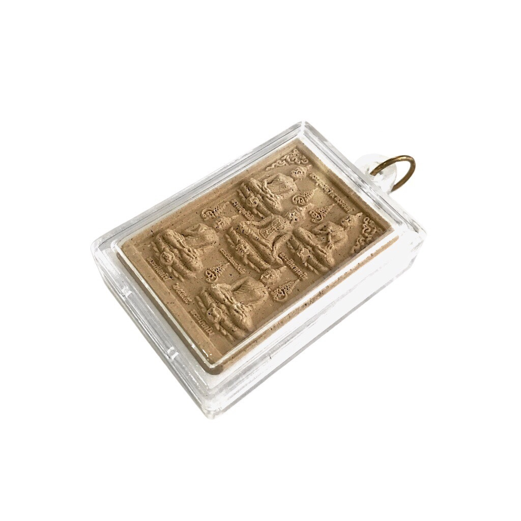 Five Buddhas Amulet with Holy Relics from the Wat Arun Temple of Dawn