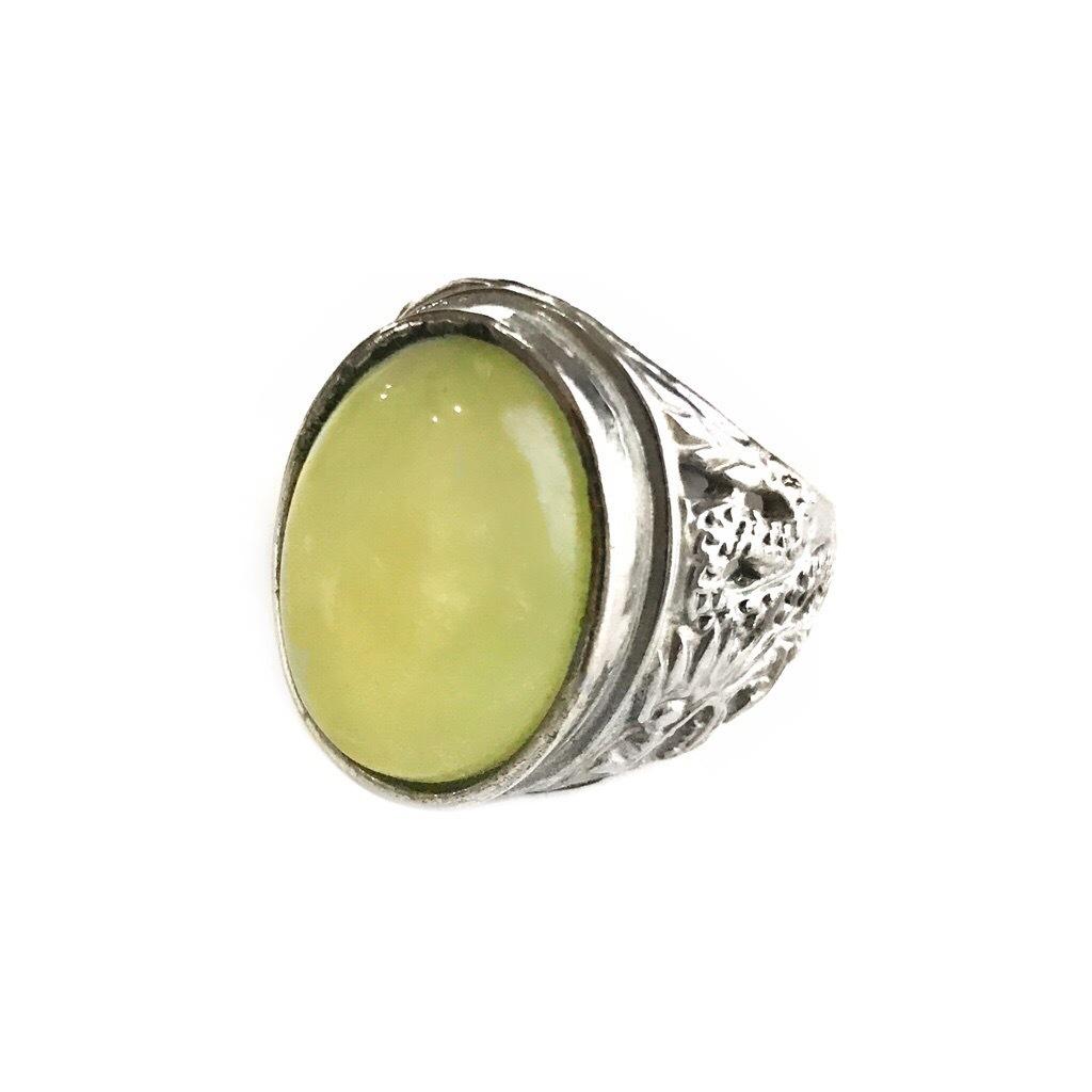 Fluorite Stone in Dragon Ring