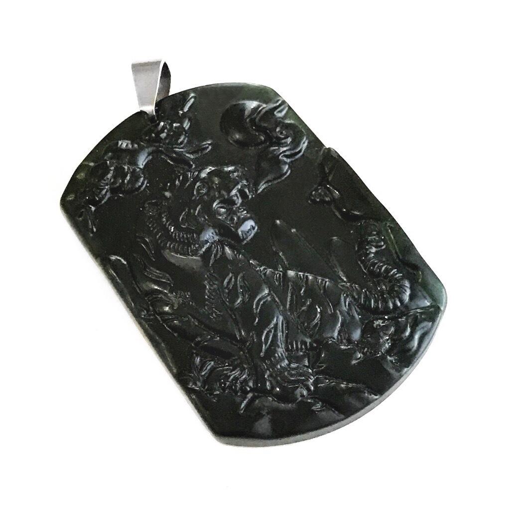 Nephrite Jade Tiger Amulet