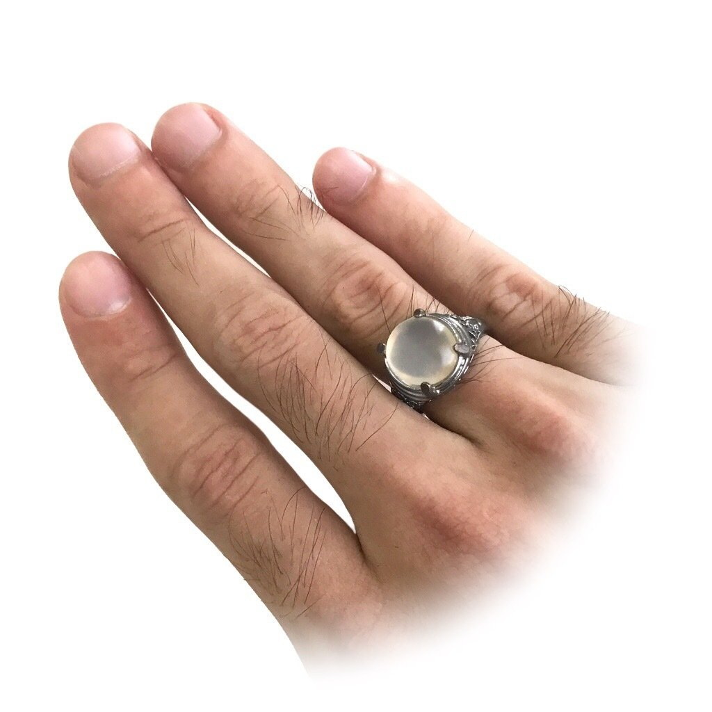 Talismanic Moonstone Ring from Indonesia
