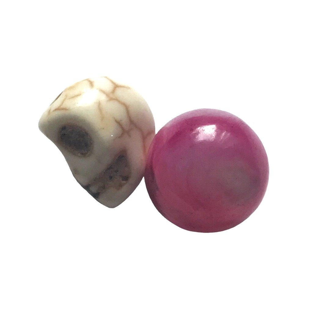 Pink Ruby Mustika with Magic Skull