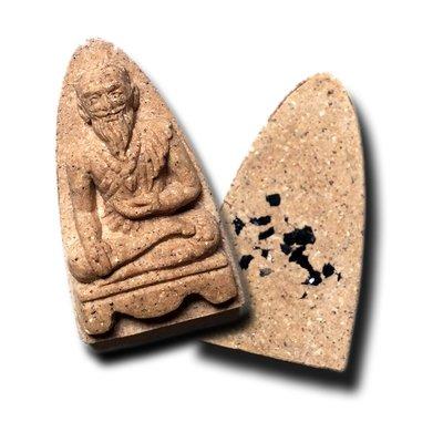 Āyurvedic Medicine Amulet of Grand Master Ṛṣi Jīvaka with Kayasiddhi Mineral Healing Relics by Luang Por Juea of Wat Klang Bang Gaew