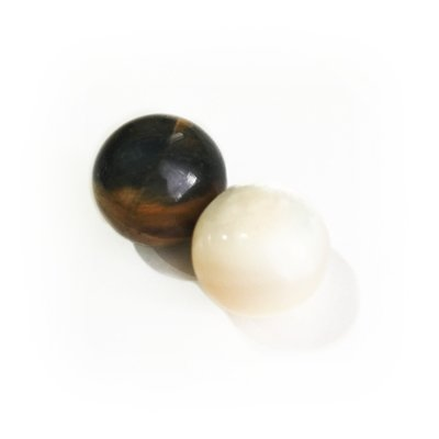 Pair of Mystical Mustika Pearls that Stabilizes the Aura, Enhances Intuition and Promotes Peace of Mind