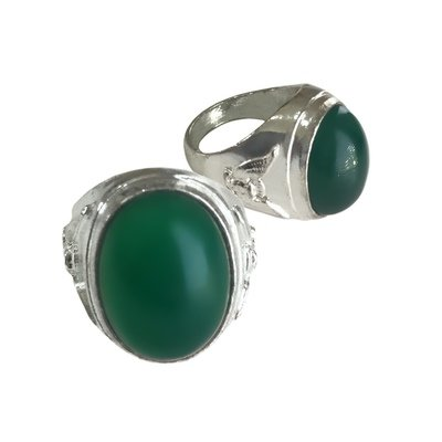 Mystical Chrysoprase Chalcedony Gemstone Ring bringing Prosperity and Other Desirable Conditions