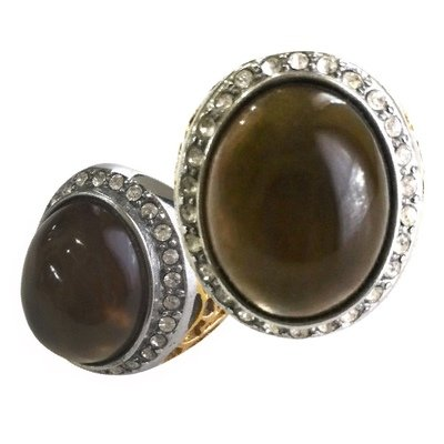 Shamanistic Ring with Smoky Quartz Crystal for Assistance in reaching Business Goals