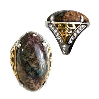 Fivefold Colored Pancawarna Jasper Gemstone Ring ritually consecrated by the Power of Five Guardian Spirits