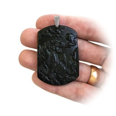Black jade tiger pendant for invulnerability against disgraceful titleblack jade tiger pendant for invulnerability against disgraceful acts of treason and extortion mozeypictures Gallery