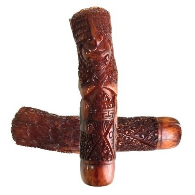 Antique Bhūta Danganan Keris Hilt Figure carved from Deer Antler imbued with Demoniac Qualities