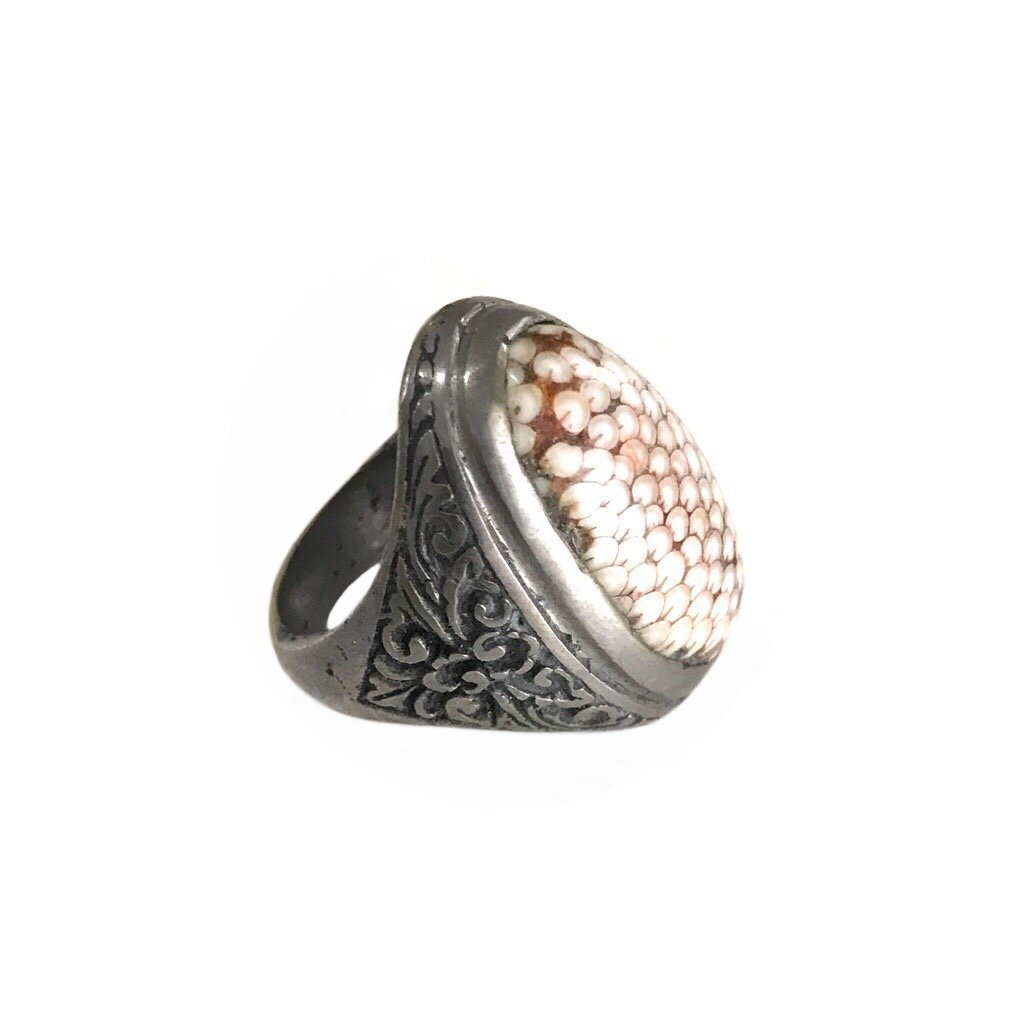 Indonesian Snakeskin Stone Ring
