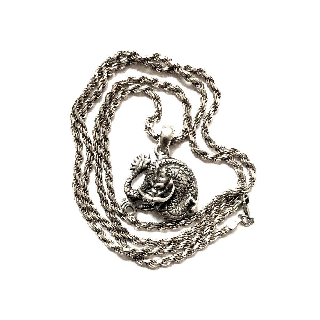 Silver Naga Dragon Pendant