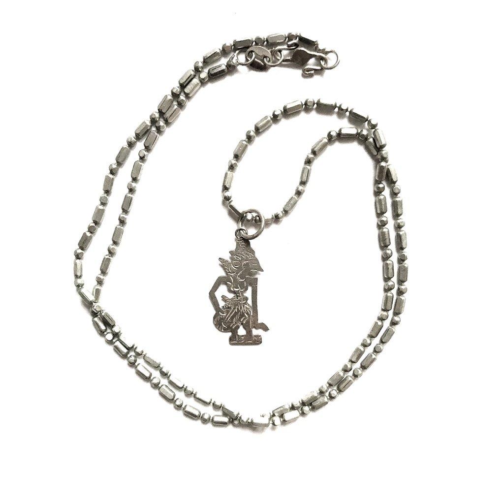 Indonesian Silver Wayang Pendant