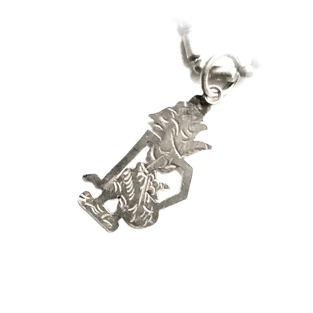 Javanese Wayang Puppet Pendant made from Silver