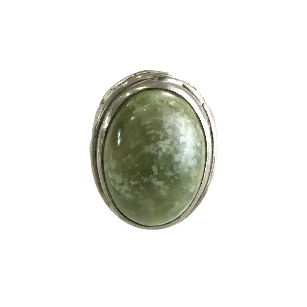 Vesuvianite Gem embedded in a Talismanic Ring