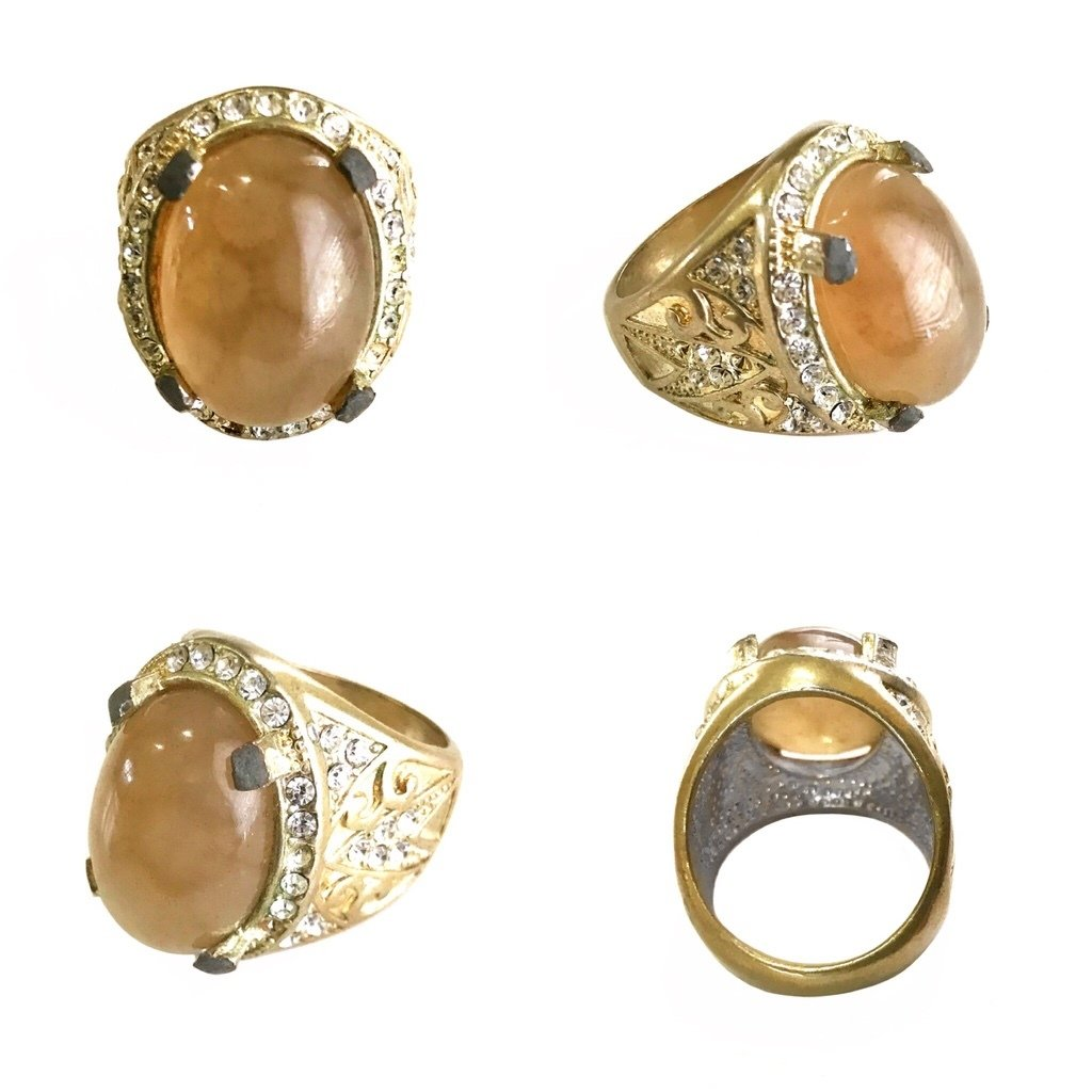 Agatized Fossil Coral Ring to optimalize Efforts in Business, Study, and Romance