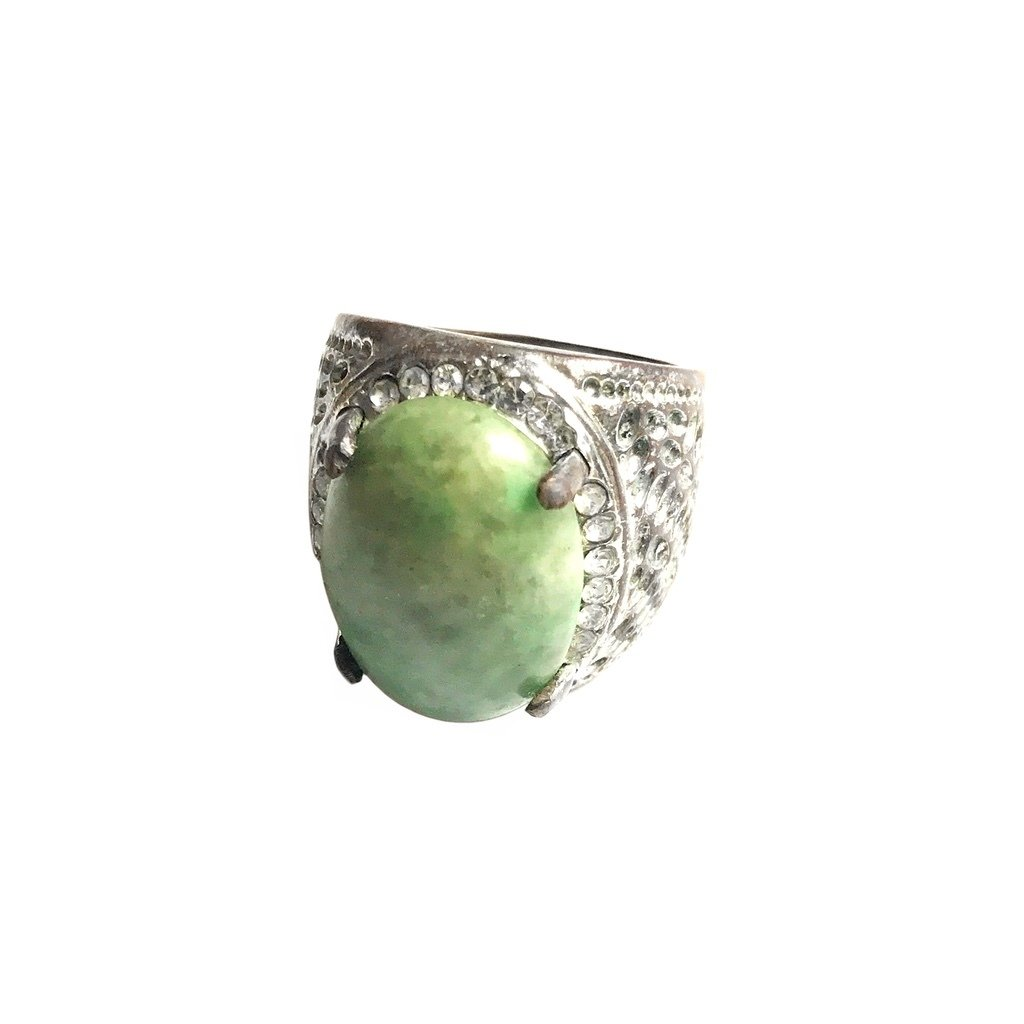 Indonesian Nephrite Ring Talisman