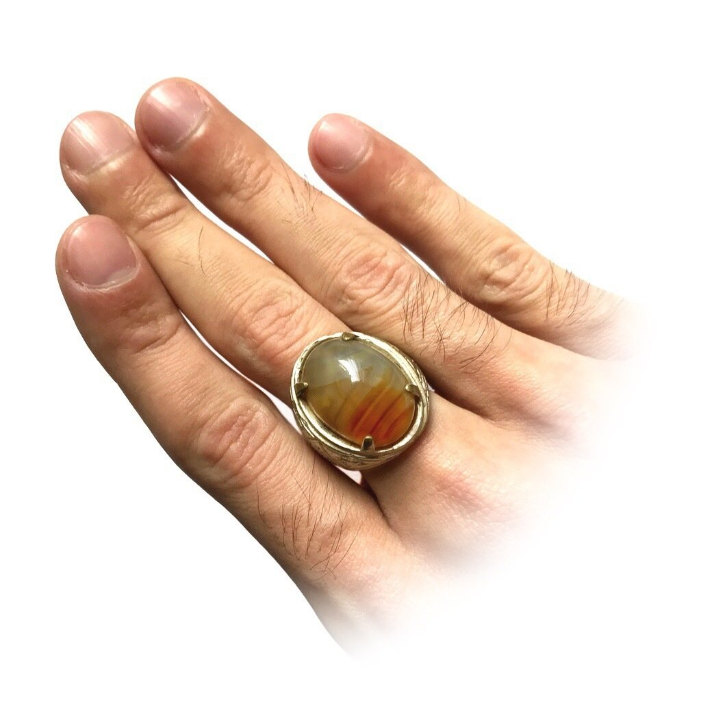 Magical Agate Talisman Ring