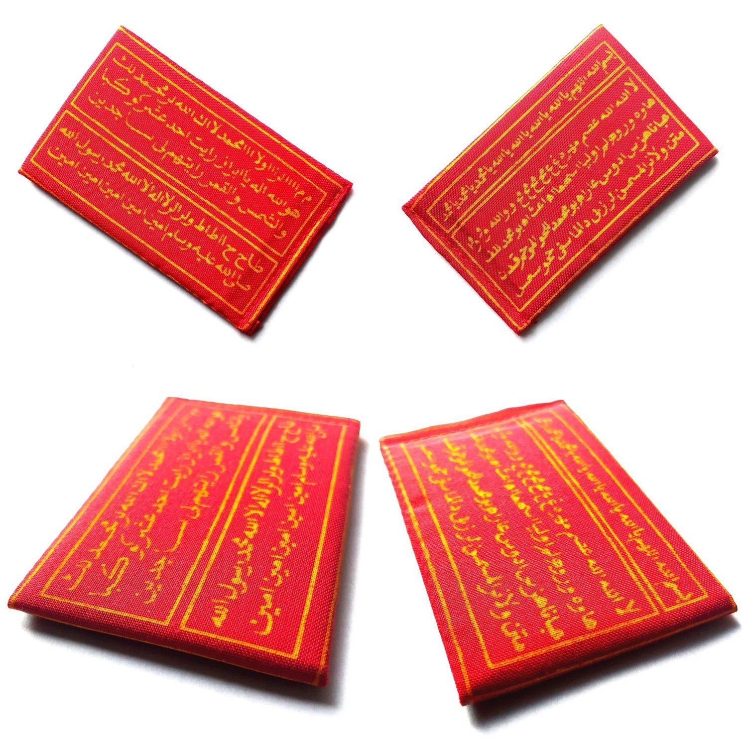 Authentic Indonesian Taweez in Red and Yellow Color to Conquer All Evil and to Avoid Unfortunate Mishaps