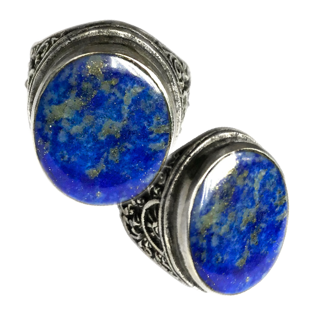 Celestial Azure Lapis Lazuli Stone set in a Balinese Silver Ring to enhance Inner Vision and Intuitive Awareness