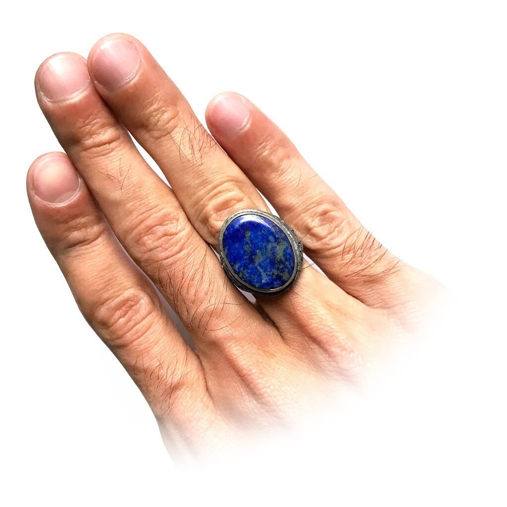 Blue Lapis Lazuli Amulet from Bali