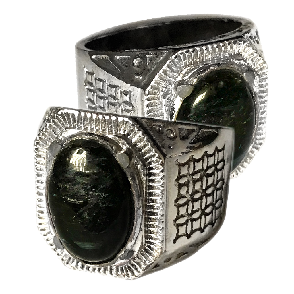 Black Astrophyllite Crystal Ring for Psychic Development and Spiritual Transformation