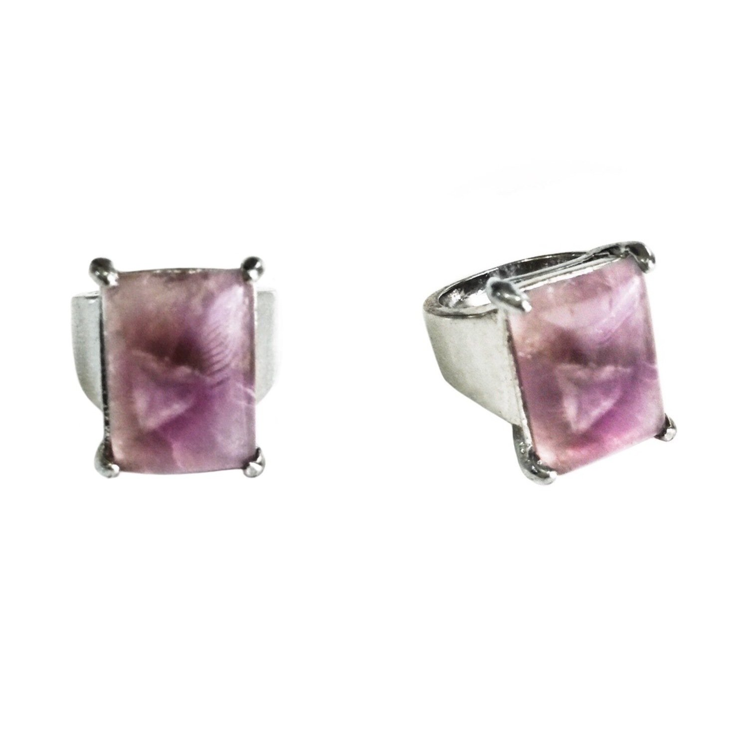 Semi-precious Amethyst Amulet Ring to prevent a Cloudy Mind by eradicating Negative Thoughts and Feelings