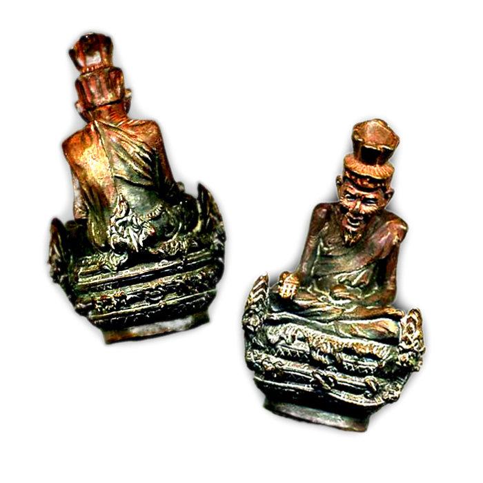 Sacred Metal Statuette of the Saintly Hindu Priest Rêsi Nārada