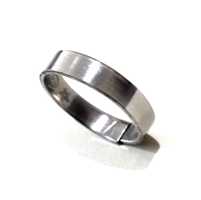 Magic Ring featuring Sacred Formulas aimed at Improvement of Fate and Luck (Made from Steel – Adjustable Size)