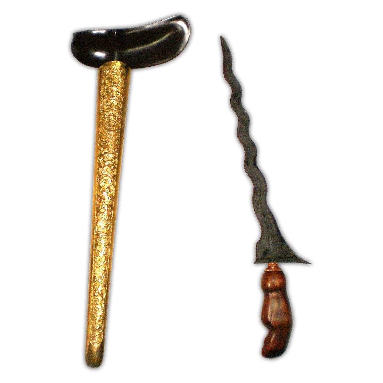 Keris Sabuk Tali Luk 11 with Pamor Banyu Mili - Tangguh Singosari (13th Century)