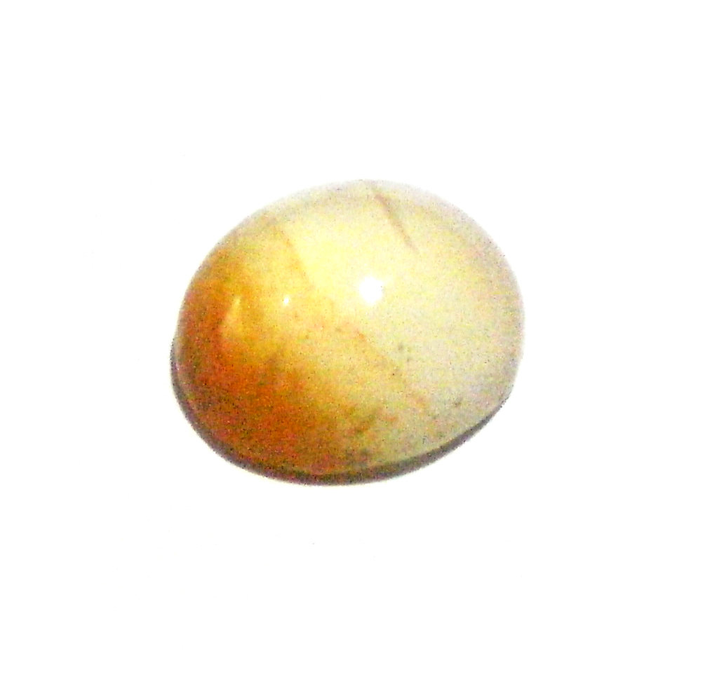 Orange Agate Mustika Gemstone Imbued with Mystical Powers for Protection, Good Luck and Good Fortune