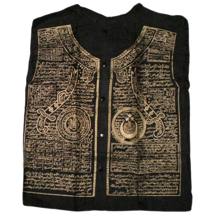 Sacred Muslim Shirt with Islamic Geometric Designs and Arabic Spells