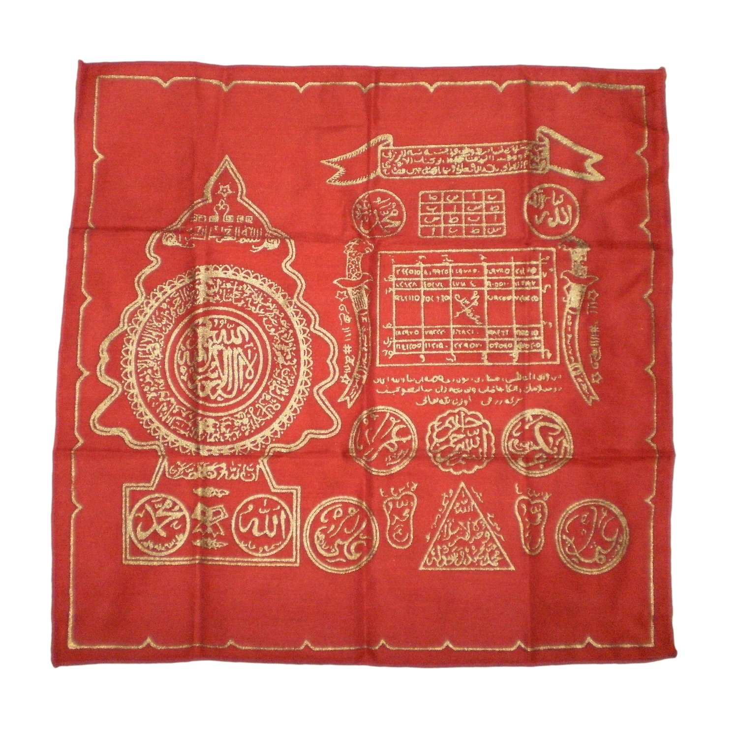 Red Magical Handkerchief with Islamic Spells