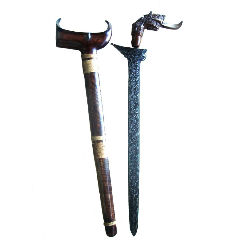 Sundang Moro Sword with Pamor Ganggeng Kanyut for Success in Social Relationships and Good Fortune