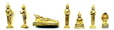 Buddhas of the 7 Days of the Week loi ongk set - LP Joy, Wat Siri Mongkon Boonyaram