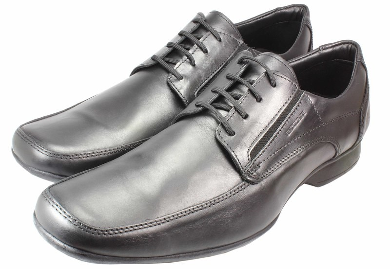 Mens Shoes Genuine Leather Black - SUGGESTED RETAIL PRICE $45.00 - WHOLESALE PRICE $8 - Minimum purchase 19 pairs