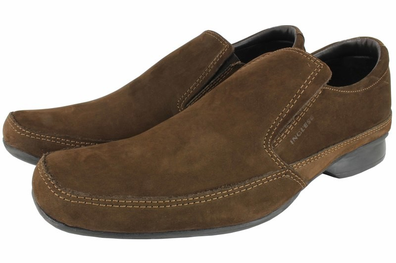 Mens Shoes Genuine Nubuck Leather Brown - SUGGESTED RETAIL PRICE $45.00 - WHOLESALE PRICE $8.5 - Minimum purchase 12pairs