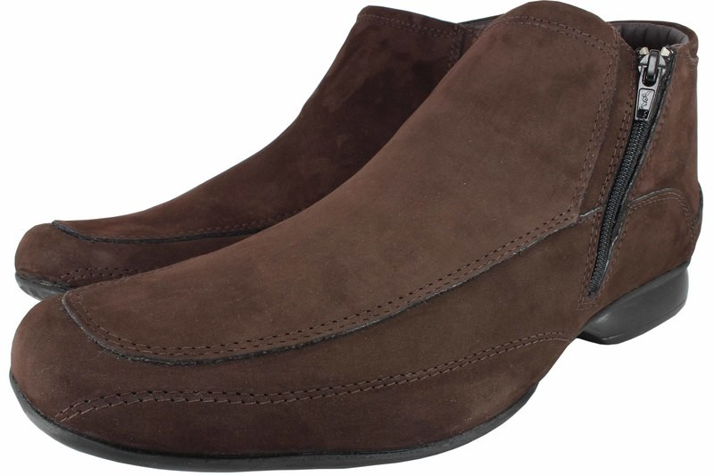 Mens Boots Genuine Nubuck Leather Brown - SUGGESTED RETAIL PRICE $45.00 - WHOLESALE PRICE $9 - Minimum purchase 12 pairs