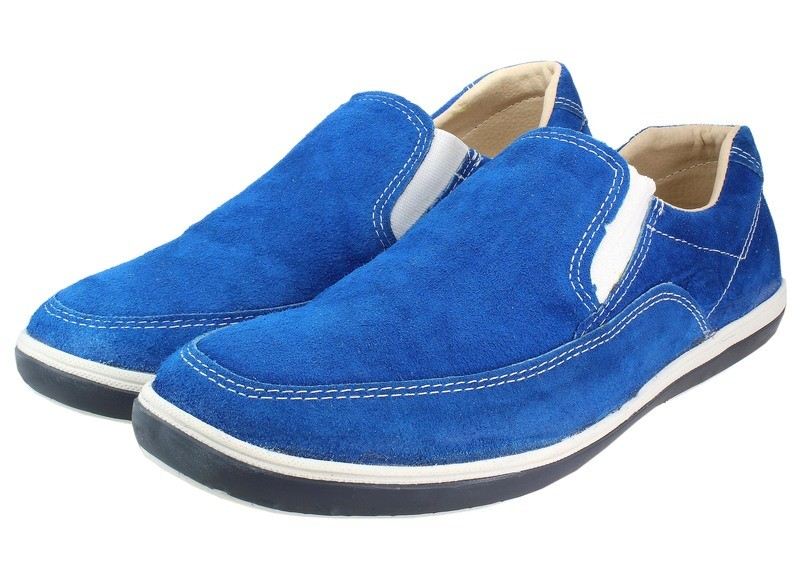 Mens Shoes Genuine Suede Leather Blue - SUGGESTED RETAIL PRICE $45.00 - WHOLESALE PRICE $8 - Minimum purchase 10pairs