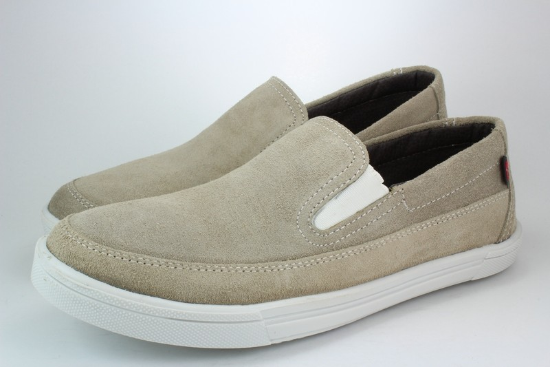 Mens Shoes Genuine Suede Leather Beige - SUGGESTED RETAIL PRICE $45.00 - WHOLESALE PRICE $7 - Minimum purchase 4 pairs