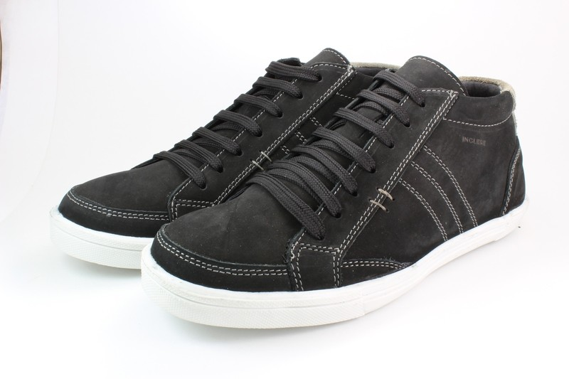 Mens Boots Genuine Nubuck Leather Black - SUGGESTED RETAIL PRICE $45.00 - WHOLESALE PRICE $8.25 - Minimum purchase 4-pairs