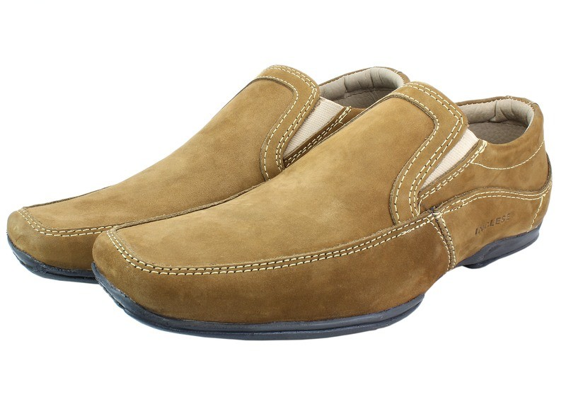 Mens Shoes Genuine Nubuck Leather Light Brown - SUGGESTED RETAIL PRICE $45 - WHOLESALE PRICE $8.5 - Minimum purchase 6 - pairs