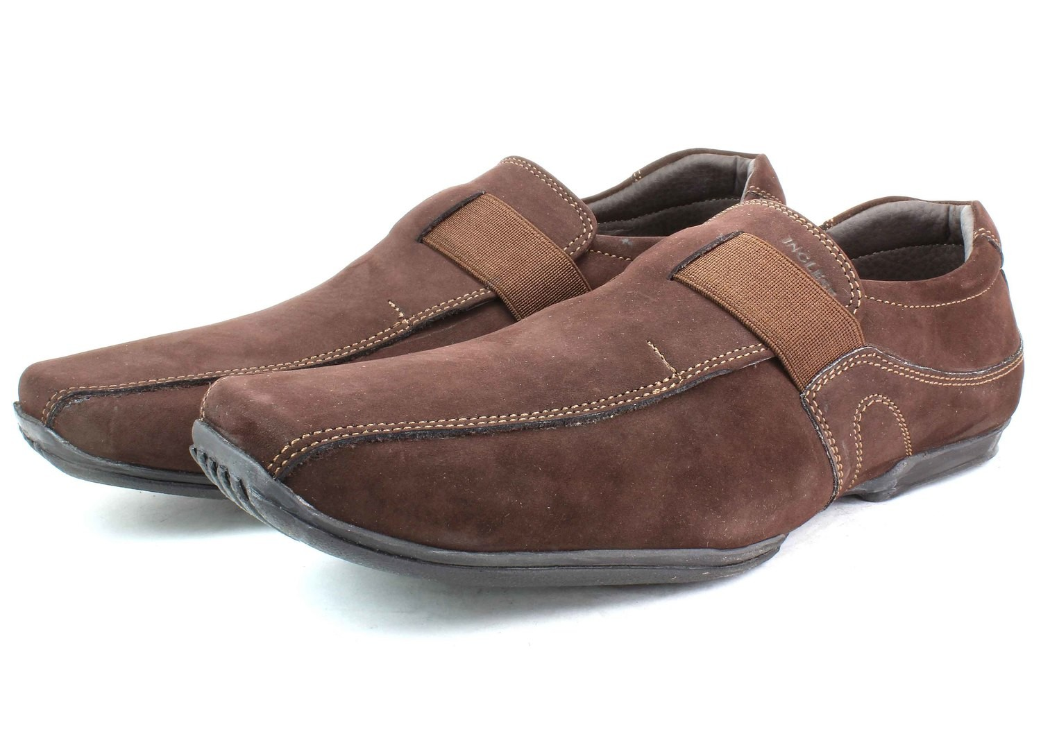 Mens SHOES Genuine Nubuck Leather Brown - SUGGESTED RETAIL PRICE $45.00 - WHOLESALE PRICE $17