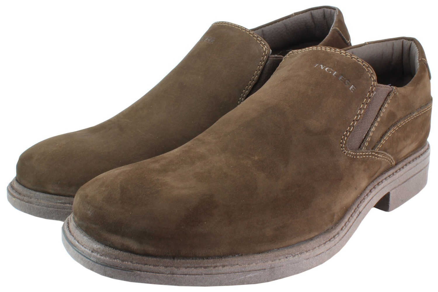 Mens Shoes Genuine Nubuck Leather Brown - SUGGESTED RETAIL PRICE $45.00 - WHOLESALE PRICE $9 - Minimum purchase 11pairs