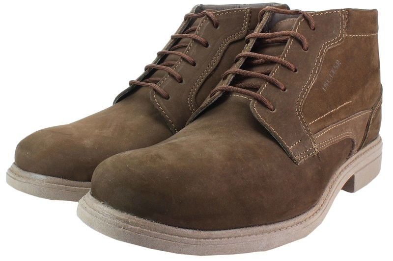 Mens Boots Genuine Nubuck Leather Brown - SUGGESTED RETAIL PRICE $45.00 - WHOLESALE PRICE $9.25 - Minimum purchase 10 pairs